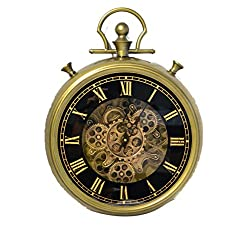 My Aashis Large Decorative Pocket Watch Wall Clock- Traditional Vintage Antique Retro Design- (18 x 4 x 24)