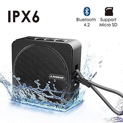 Avantree Bluetooth Shower Speaker, IPX6 Waterproof Wireless Portable Speaker