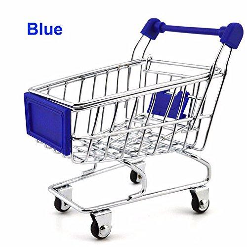 CynKen Shopping Cart Storage Container Holder CynKen Desk Decoration Storage Cart Case Container Blue B01MRLAMQN, イシコシマチ:36d5aad9 --- amlakzamanpour.com