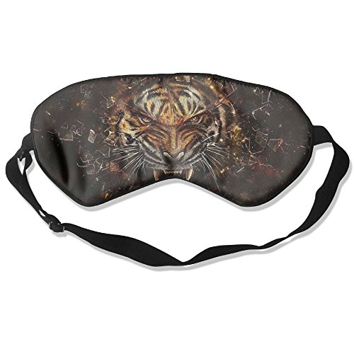 Comfortable Sleep Eyes Masks Big Cat Tiger Glass Pattern Sleeping Mask For Travelling, Night Noon Nap, Mediation Or - Light Cancelling Glasses Blue