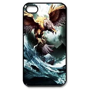 James-Bagg Phone case Eagle pattern art For Iphone 4 4S case cover FHYY395006