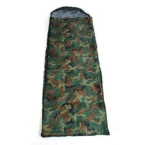 Bazaar Outdoor Camping Sleeping Bags Thick Travel Sack Hooded Camouflage