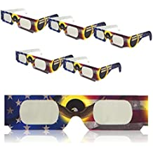 Solar Eclipse Glasses | ISO Certified | Safe for Direct Sun Viewing | Eye Filters | Made in the USA | 5 Pack | by Sol Specs