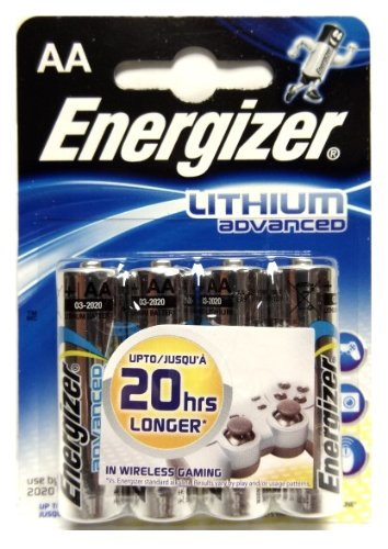Energizer Advanced Lithium Batteries AA for Electronic Device
