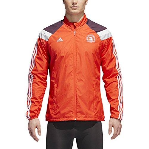 adidas Men's 2018 Boston Marathon Celebration Jacket (Hi-Res Red, Large)