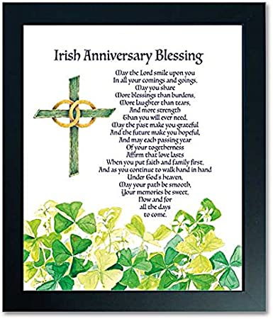 Amazon Com Irish Wedding Anniversary Blessing Deluxe Framed Print