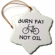 orn_15996_1 Mark Andrews ZeGear Activist - Burn Fat Not Oil - Ornaments - 3 inch Snowflake Porcelain Ornament