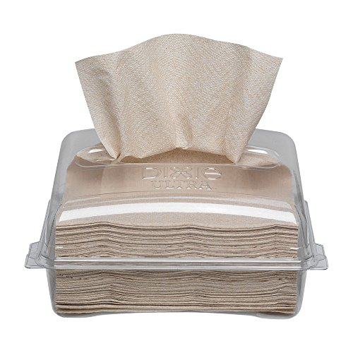 Georgia-Pacific 3219000 Dixie Ultra 2-Ply Brown Napkin Pack and Disposable Dispenser Combo Kit (2 Dispensers and 4 packs of 250 Napkins Per Case)
