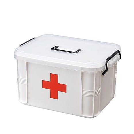 Baffect Caja de Almacenamiento de Doble Capa de Primeros Auxilios, Dispositivo de almacenaje médico de