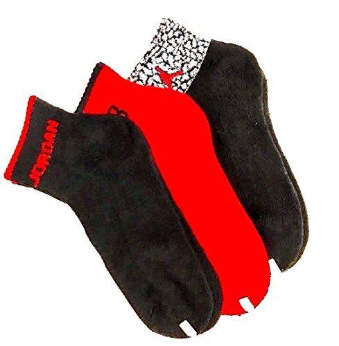 Nike Air Jordan Elephant Print Boys 3Pr Quarter Socks 5Y-7Y by NIKE