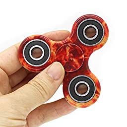 PUNING Fidget Hand Spinner Toy Stress Reducer EDC Focus Toy Relieves ADHD Anxiety Time Killer (C-5Camouflage flame)