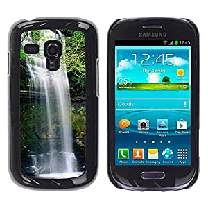 Exotic-Star ( Waterfall ) Fundas Cover Cubre Hard Case Cover para Samsung Galaxy S3 III MINI (NOT REGULAR!) / I8190 / I8190N