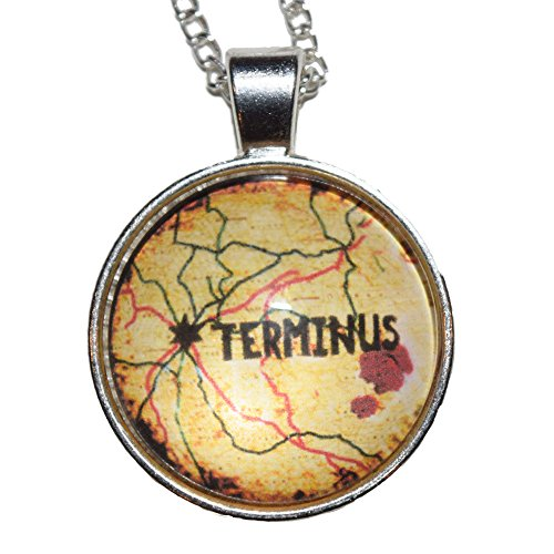 The Walking Dead: Terminus Map Necklace (Perfect Christmas Gift For Family, Friends, TWD Fans!) (Carl Costume)