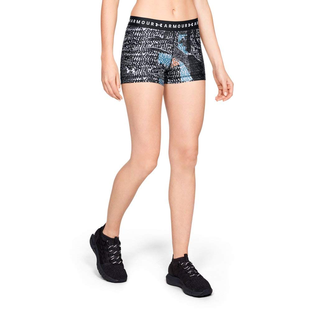Under Armour Women's Headgear printed shorty Bottom, Black (006)/White, Large by Under Armour
