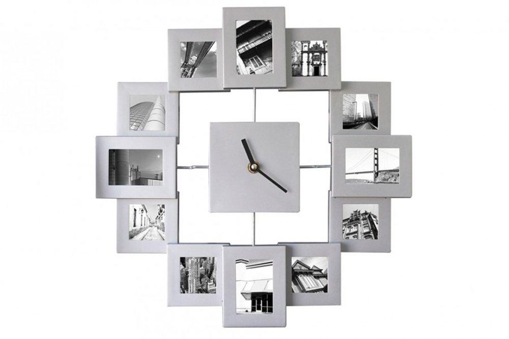 Amazon.de: XXL 45cm Fotorahmen Uhr Bilderrahmen Wanduhr Bilder ...