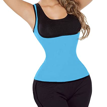 db42c32412094 Image Unavailable. Image not available for. Color  Hot Neoprene Sweat Sauna  Hot Body Shapers Fat Burner Tank Top Yoga Slimming Vest