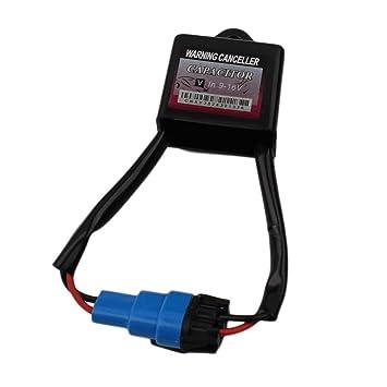 Leoboone 1 Stk Universal HID Xenon Umbausatz Computer Armaturenbrett Fehler Warnung Canceller Decoder /& Anti Flicker Kondensator