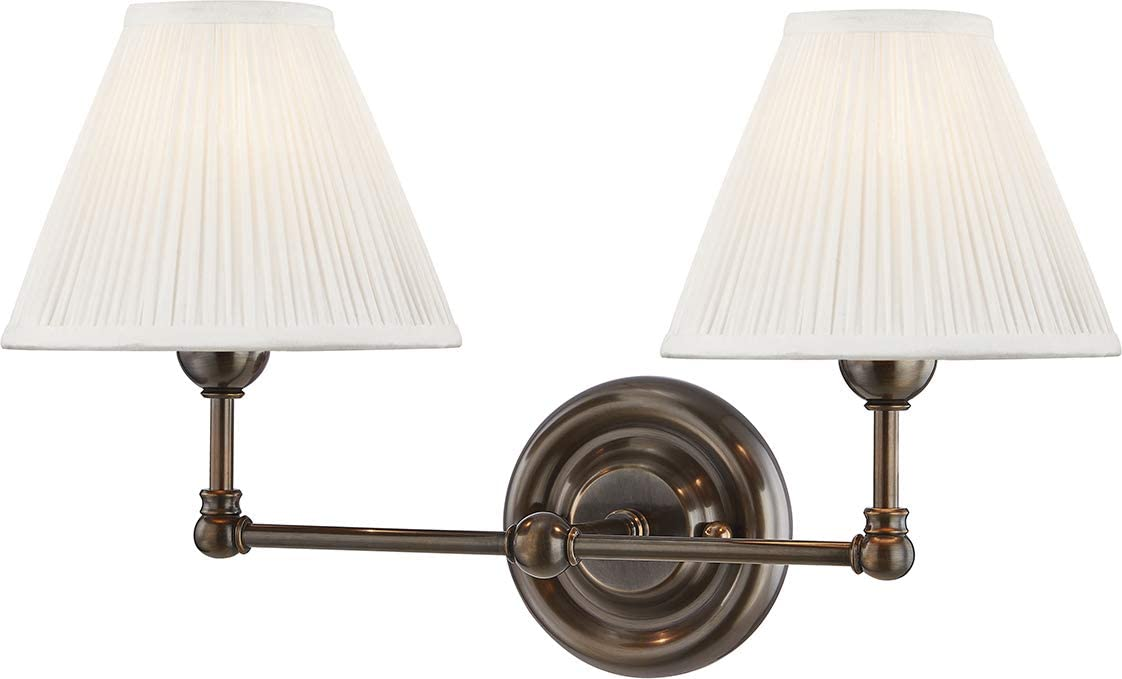 Hudson Valley Lighting Mds102 Db Classic No 1 By Mark D Sikes Wall Sconce Distressed Bronze Home Improvement
