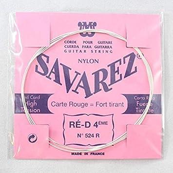 Savarez Cuerdas para Guitarra Clásica Traditional Concert 524R cuerda suelta Re4w standard, adecuado para juego 520F, 520P, 520R, 520P1, 520P3.