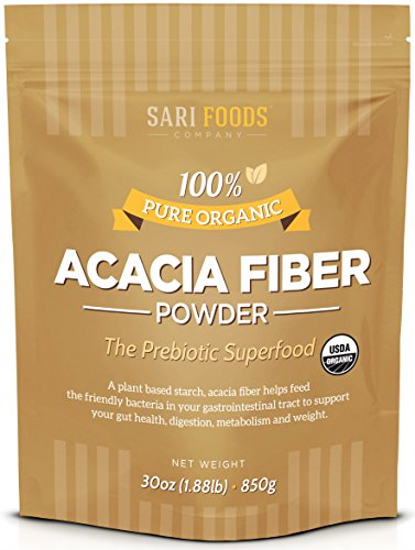 (Organic Acacia Fiber Powder (30 Ounce): Natural, Whole Food, Plant Based Prebiotic Superfood for Gut)