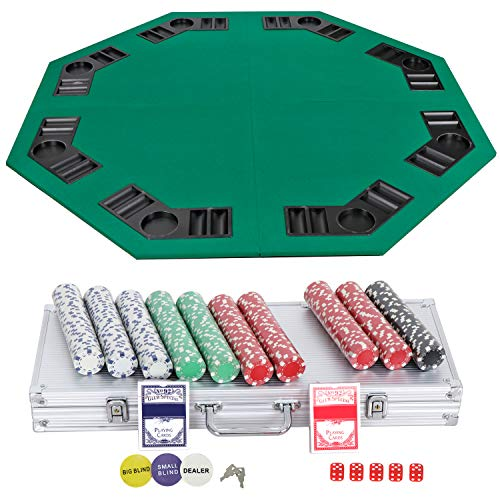 (Smartxchoices Poker Chips and Table Top Bundle 48