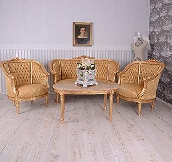 Antik möbel sofa  PALAZZO INT Sitzgruppe Barock Sitzgarnitur Salon Möbel Sofa Sessel ...