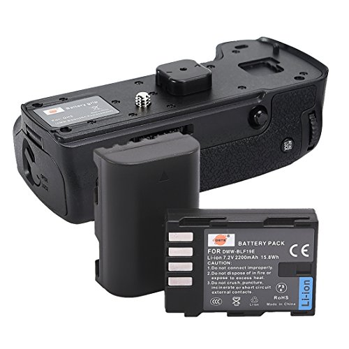 DSTE Pro Wireless Remote Control DMW-BGGH5 Vertical Battery Grip + 2X DMW-BLF19 BLF19E for Panasonic GH5 GH5S Lumix DC-GH5 Digital Camera