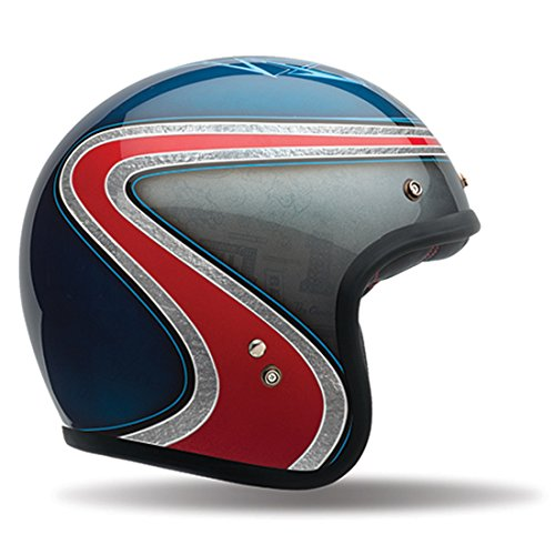Bell Custom 500 Special Edition Open-Face Motorcycle Helmet (Airtrix Heritage Blue/Red, Small)