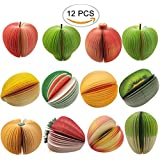 12 Types Cute and Vivid 3D Fruit and Vegetable Shaped Portable Memo Note Paper Scratch Pad by CSPRING