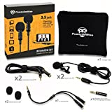 #3: 2 Lavalier Lapel Microphones Set for Dual Interview - Dual Lavalier Microphone - Lavalier Microphone Set - Perfect as Blogging Vlogging Interview Microphone for iPhone 6, 7, 8, X