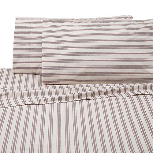 IZOD 028828315656 Sheet Set, Twin, Red/White (Red Cotton Ticking)