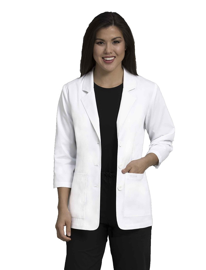 Med Couture 8677 Women's 28'' Consultation Lab Coat White S