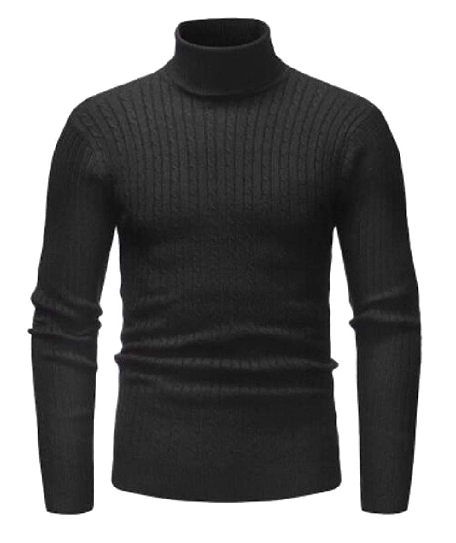 mydeshop Mens Warm Cashmere Turtleneck Long Sleeve Pullover Sweater