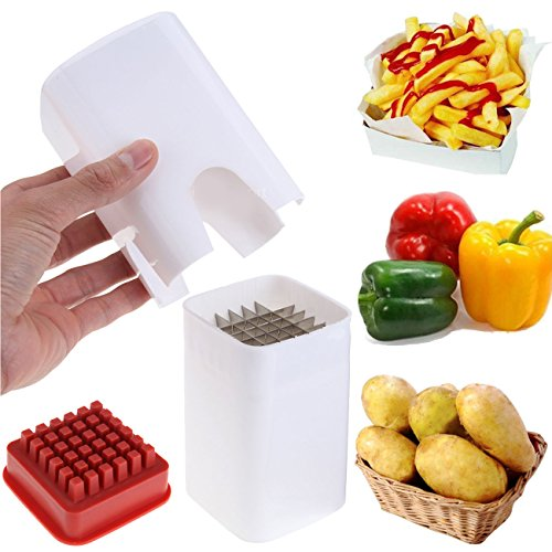 Price comparison product image Ridgeyard One Step French Fries Cutter Vegetable Fruit Veg Carrot Slicer Potato Perfect Fries Kitchen Blade