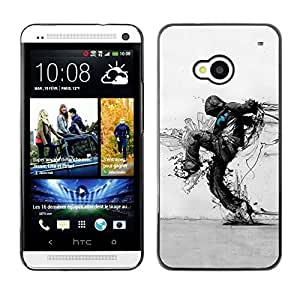 PC/Aluminum Funda Carcasa protectora para HTC One M7 Nature Protection Ecological Distruction Art / JUSTGO PHONE PROTECTOR