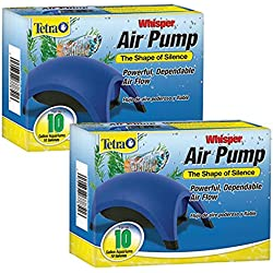 Tetra 77851 Whisper Air Pump, 10-Gallon (2-Pack)