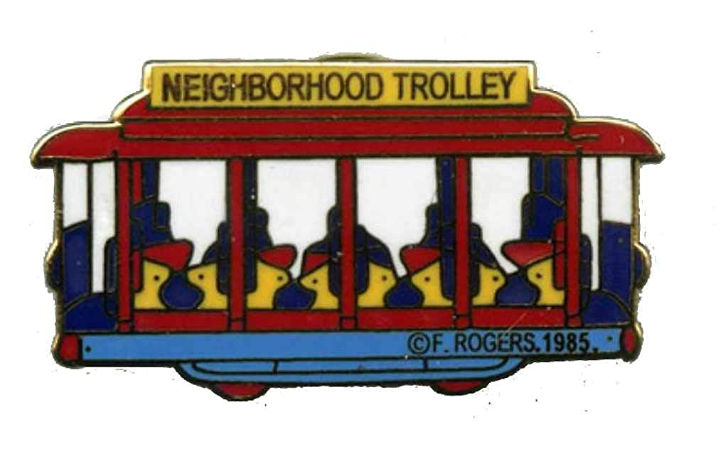 Mister Rogers/Daniel Tiger's Neighborhood Trolley Lapel Pin - 1 x 1/2