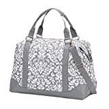 VIV&LOU High Fashion Print Weekender Bag (Blank, Ella Gray Parisian Print)