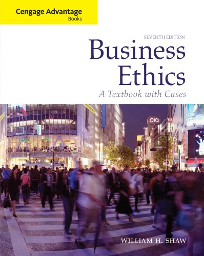 Blackboard Printed Access Card - Bundle: Cengage Advantage Books: Business Ethics: A Textbook with Cases, 7th + WebTutorTM ToolBox for Blackboard Printed Access Card