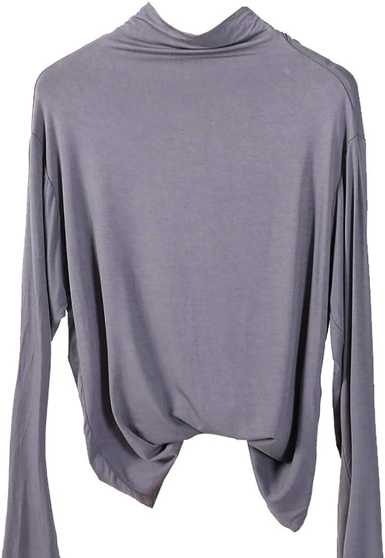 Womens Classic Fit Plain Long Sleeve Turtleneck Top T-Shirt