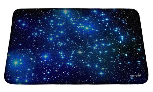 Meffort Inc Printed Soft Floor Door Mat Carpet/Area Entry Rugs for Kitchen Dining Living Hallway Bathroom - Galaxy Stars