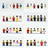 Loengt 48 Minifigures Building Bricks Community People with Accessories, Building Party Toys Gift