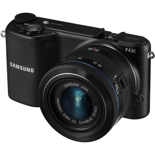Samsung NX2000 Smart Wi-Fi Digital Camera Body & 20-50mm Lens (Black) Kit Includes 0.43X Wide Angle Lens, 2.2X Telephoto Lens, 3 Piece Filter Kit (UV-CPL-FLD), 16GB Micro SD Memory Card, Card Reader, Extended Life Replacement Battery, Tripod, Case & More
