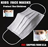 Face Mask Child Kids Medical Dental Flu Virus Nose Mouth EarLoop 50 Pack