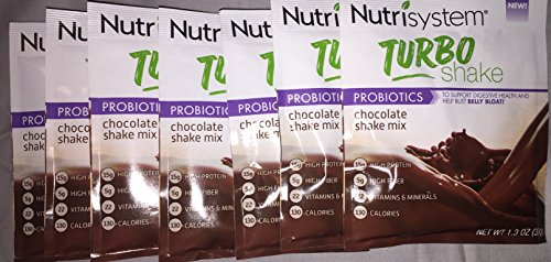 Nutrisystem Turbo Shakes Chocolate - Bust Belly Bloat Digestive Health (7 Ct. Box)