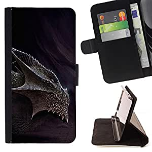 For Samsung Galaxy J1 J100 J100H Smaug Fire Dragon Style PU Leather Case Wallet Flip Stand Flap Closure Cover