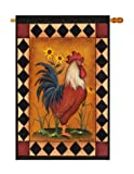 Breeze Decor – Rooster Nature – Everyday Impressions Decorative Vertical House Flag 28″ x 40″ Printed In USA Review