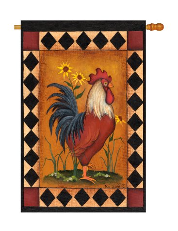 Breeze Decor - Rooster Nature - Everyday Impressions Decorative Vertical House Flag 28