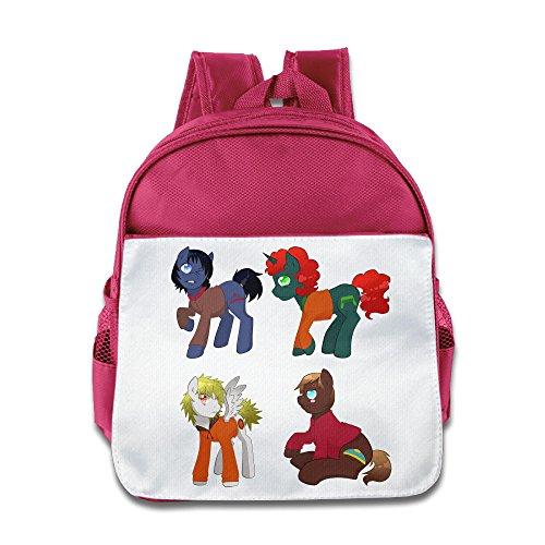 XJBD Custom Superb South Park Kids Children Shoulders Bag For 1-6 Years Old Pink