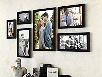 Art street - Triumphet set of 6 individual photo frames/ Wall hanging (Mix size -10x12, 6x10, 6x8, 4x6, Black) Photo Frames at amazon